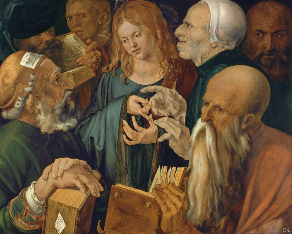 Albrecht Dürer Jesus Among The Doctors, Canvas, Albrecht Dürer, kanvas tablo, canvas print sales