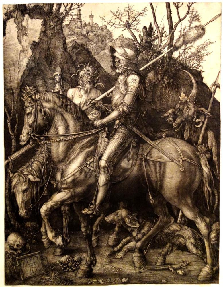Albrecht Dürer Knight Death And The Devil, Canvas, Albrecht Dürer