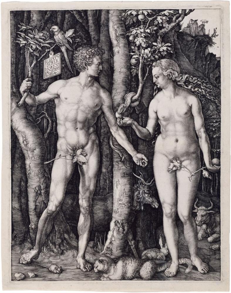 Albrecht Dürer Adam Ve Havva, Kanvas Tablo, Albrecht Dürer