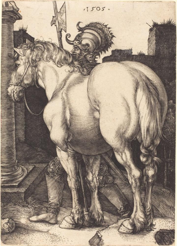 Albrecht Dürer Büyük At, Kanvas Tablo, Albrecht Dürer