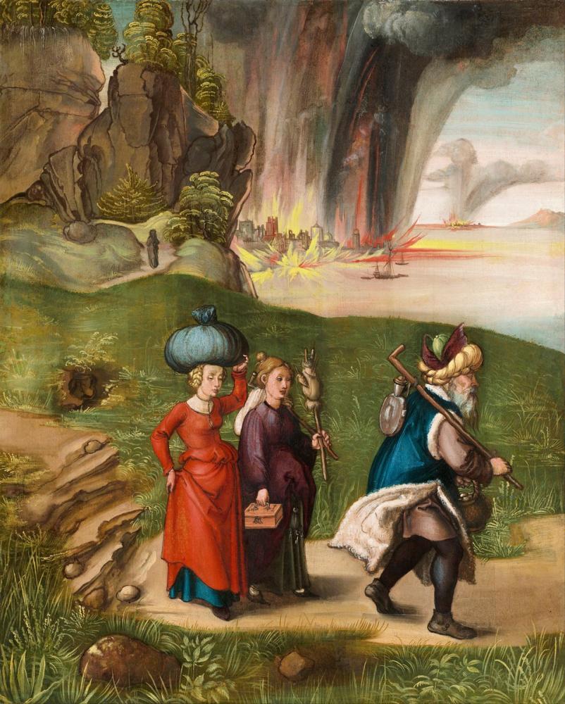 Albrecht Dürer Lot Ve Kızları Geri Döndü, Kanvas Tablo, Albrecht Dürer