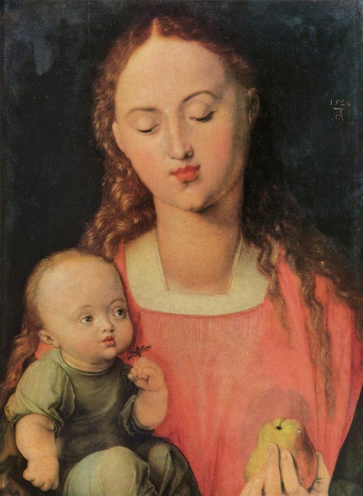 Albrecht Dürer Meryemana Ve Çocuk, Kanvas Tablo, Albrecht Dürer