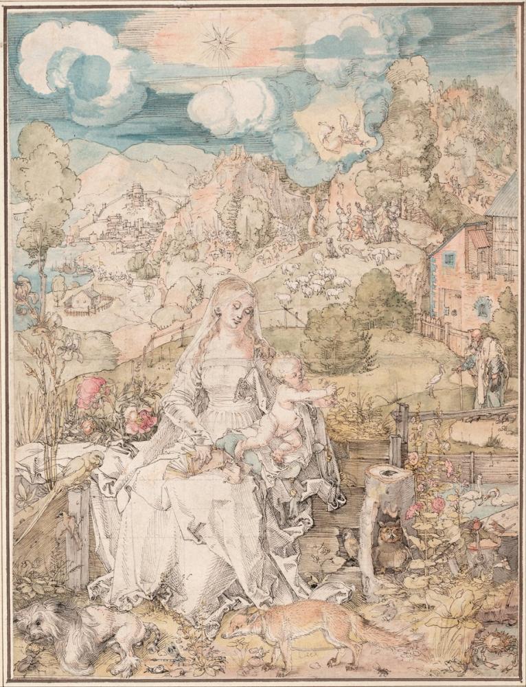 Albrecht Dürer Çok Sayıda Hayvan Arasında Meryem, Kanvas Tablo, Albrecht Dürer