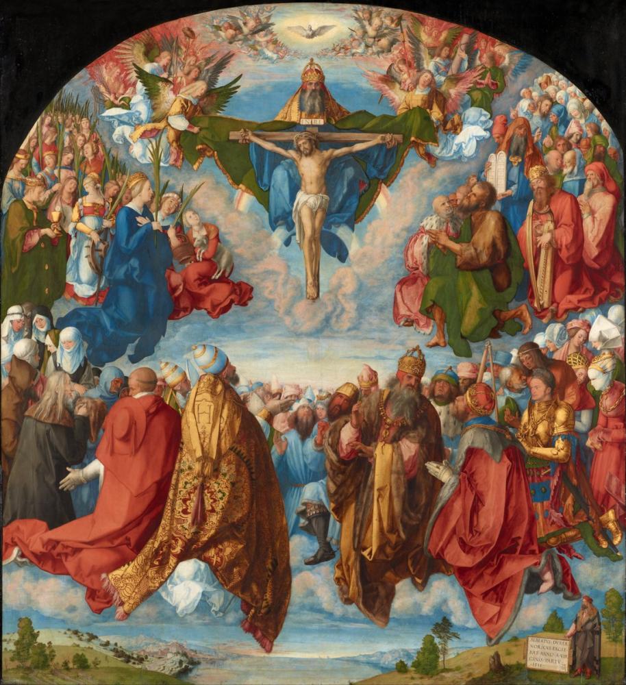 Albrecht Dürer Üçlünün Hayranlığı, Kanvas Tablo, Albrecht Dürer, kanvas tablo, canvas print sales