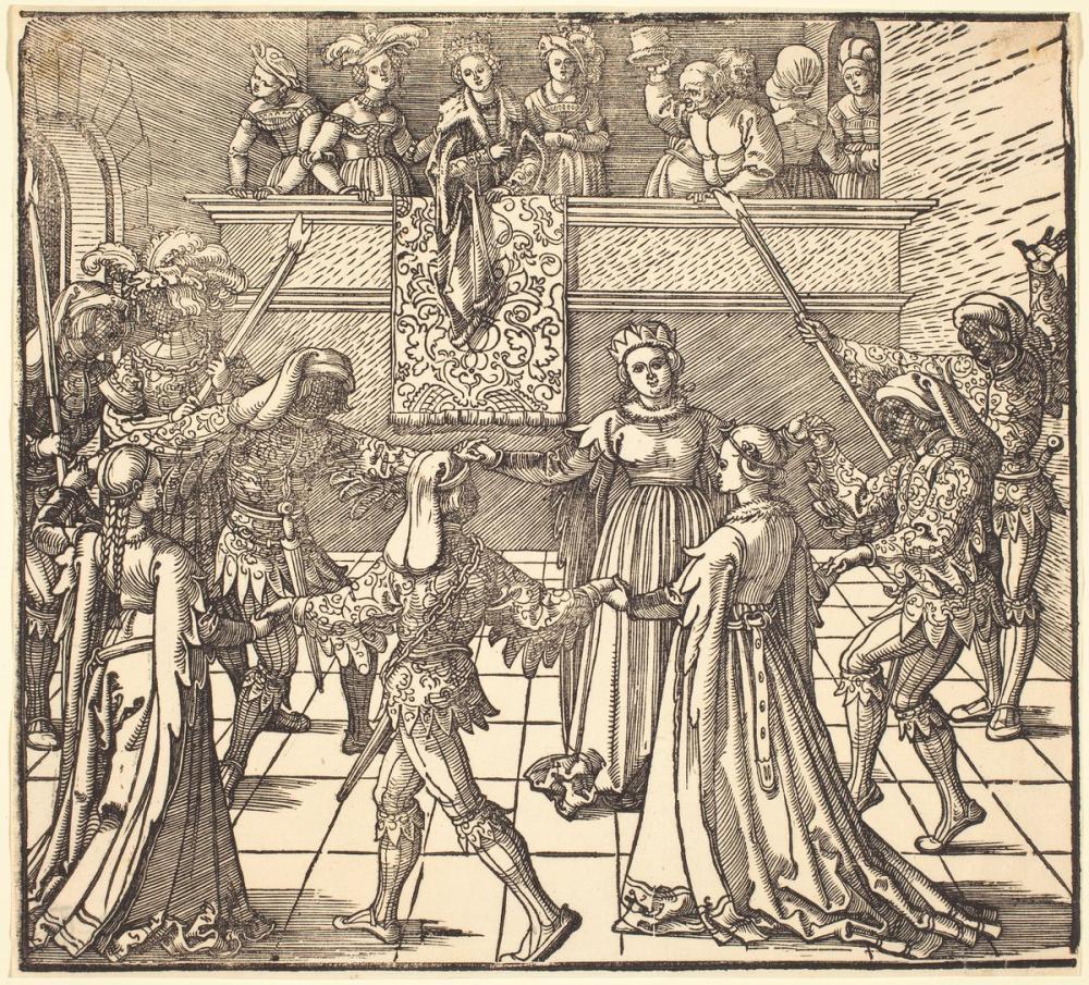Albrecht Dürer Meşalelerle Maskeli Dans, Kanvas Tablo, Albrecht Dürer