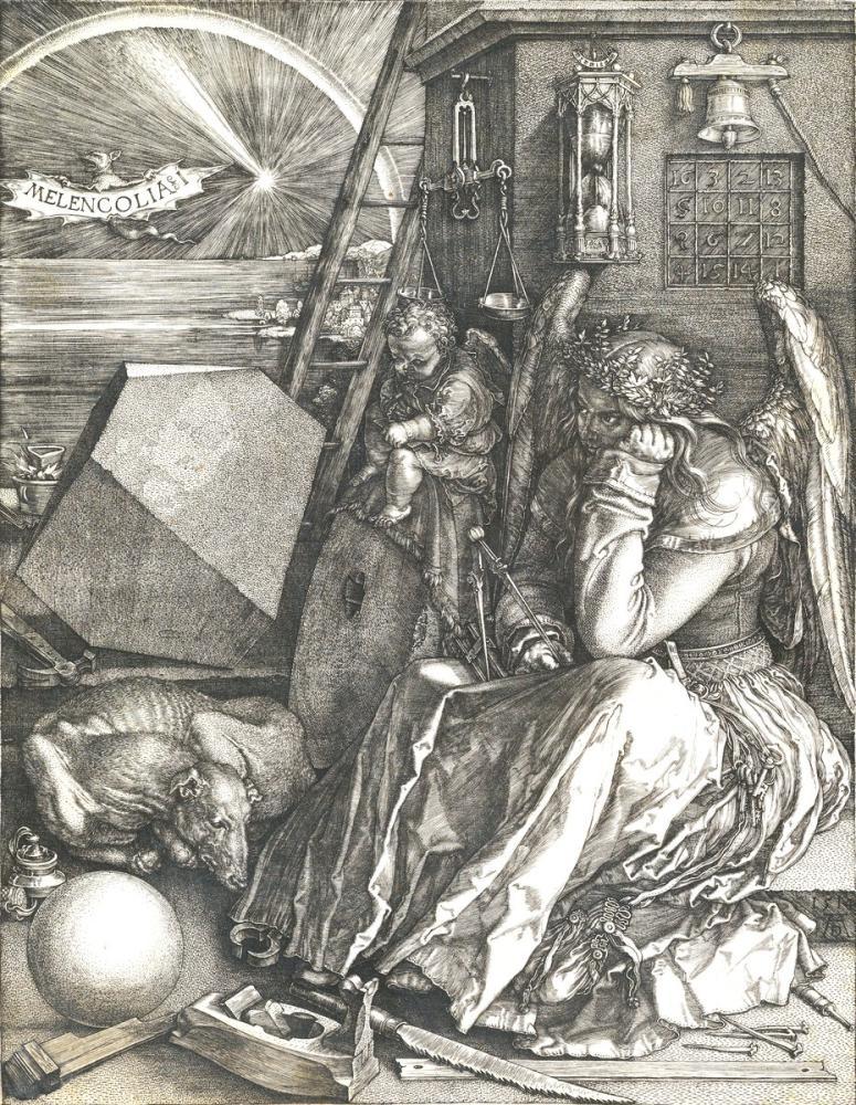 Albrecht Dürer Melencolia I, Kanvas Tablo, Albrecht Dürer, kanvas tablo, canvas print sales