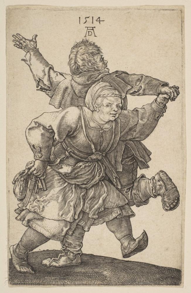 Albrecht Dürer Peasant Couple Dancing, Canvas, Albrecht Dürer, kanvas tablo, canvas print sales