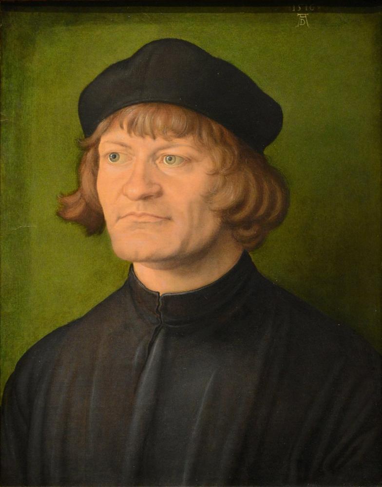 Albrecht Dürer Bir Din Adamı Portresi, Kanvas Tablo, Albrecht Dürer