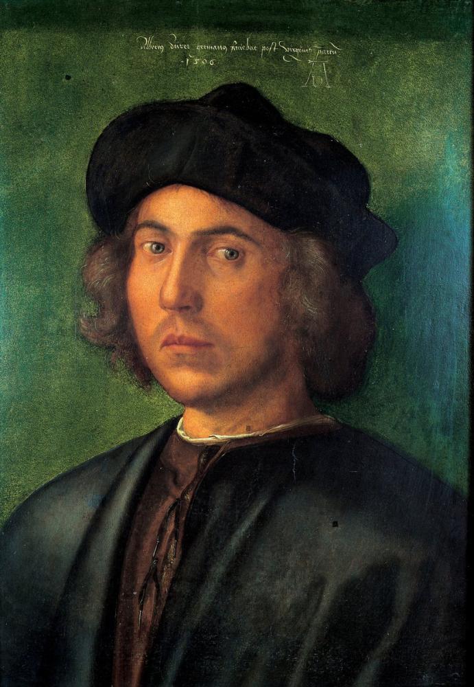 Albrecht Dürer Genç Bir Adam Portresi Palazzo Rosso Cenova, Kanvas Tablo, Albrecht Dürer