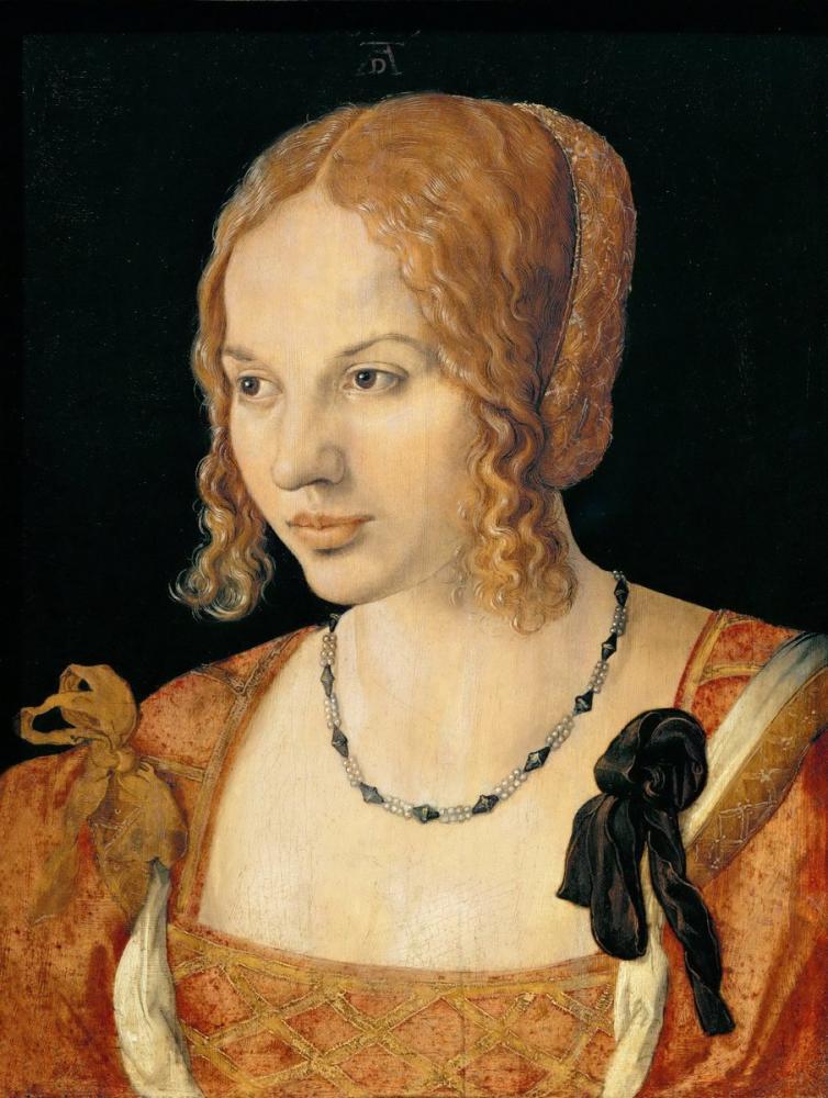 Albrecht Dürer Genç Venedikli Kadın Portresi, Kanvas Tablo, Albrecht Dürer