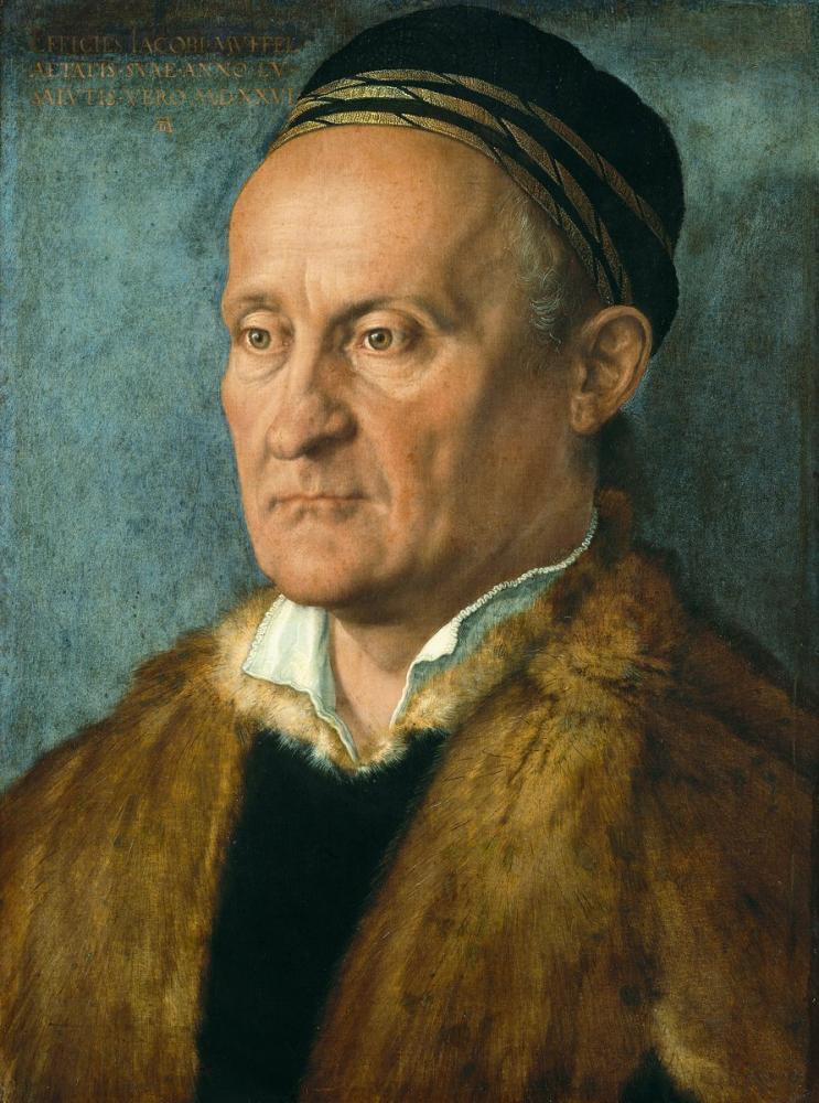 Albrecht Dürer Jacob Muffel Portresi, Kanvas Tablo, Albrecht Dürer