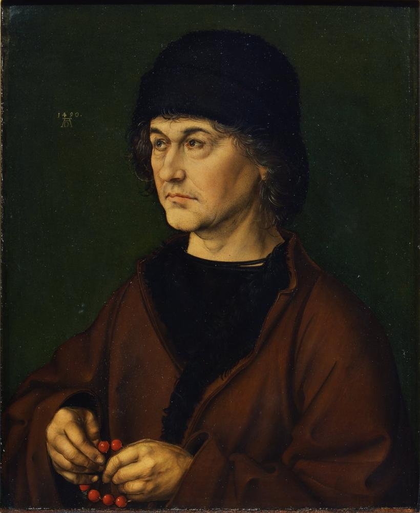 Albrecht Dürer Sanatçının Babasının Portresi, Kanvas Tablo, Albrecht Dürer