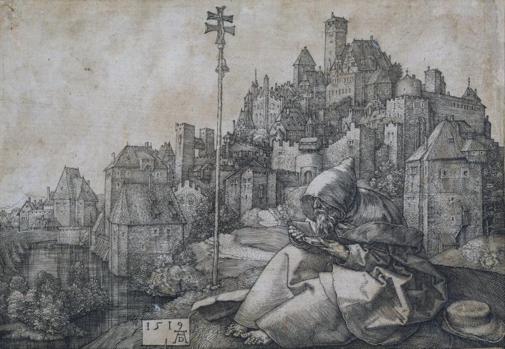 Albrecht Dürer Saint Anthony Okuma, Kanvas Tablo, Albrecht Dürer