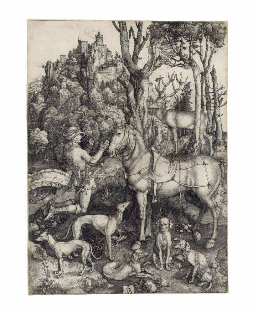 Albrecht Dürer Saint Eustace, Kanvas Tablo, Albrecht Dürer