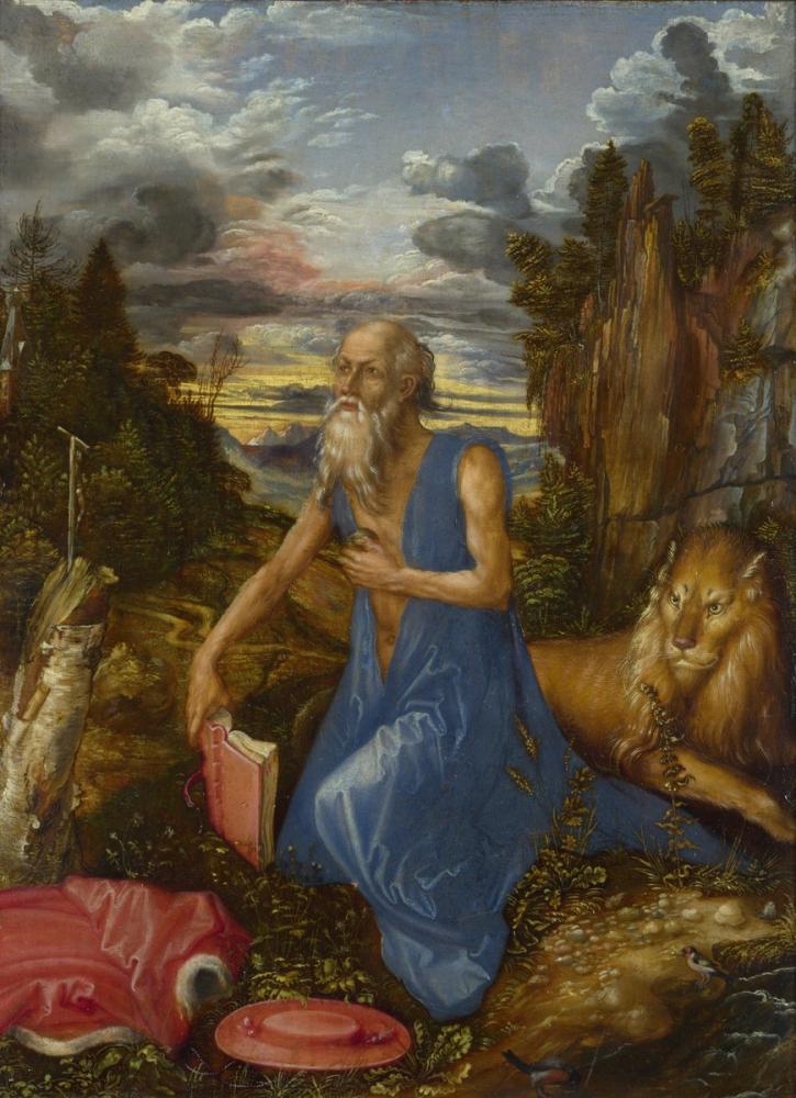 Albrecht Dürer Saint Jerome, Kanvas Tablo, Albrecht Dürer