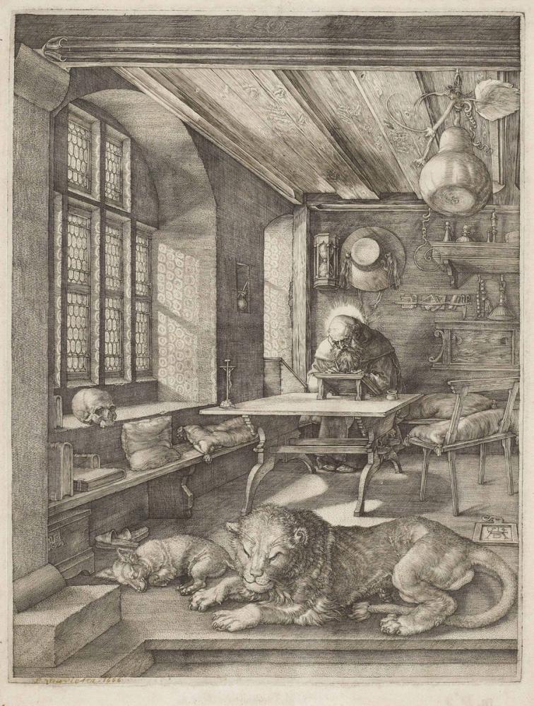 Albrecht Dürer Saint Jerome In His Study, Canvas, Albrecht Dürer, kanvas tablo, canvas print sales