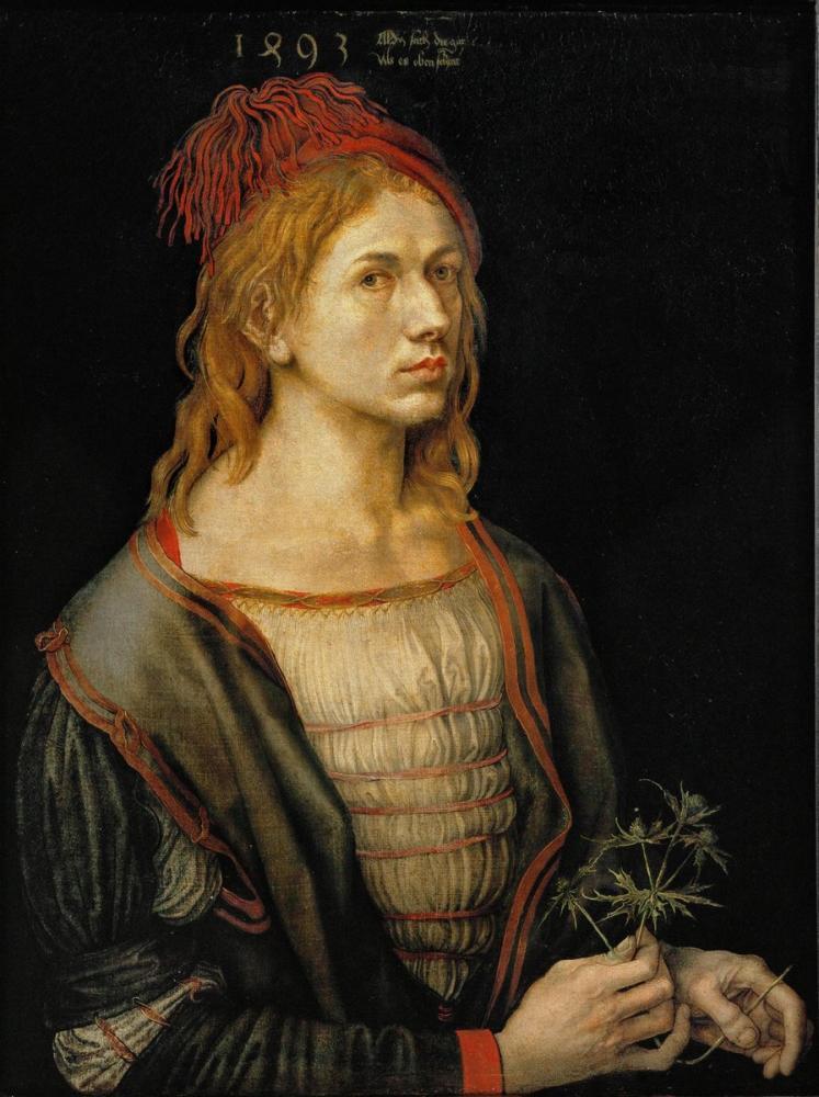 Albrecht Dürer Otoportre, Kanvas Tablo, Albrecht Dürer