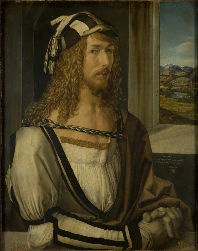 Albrecht Dürer Self Portrait, Canvas, Albrecht Dürer, kanvas tablo, canvas print sales