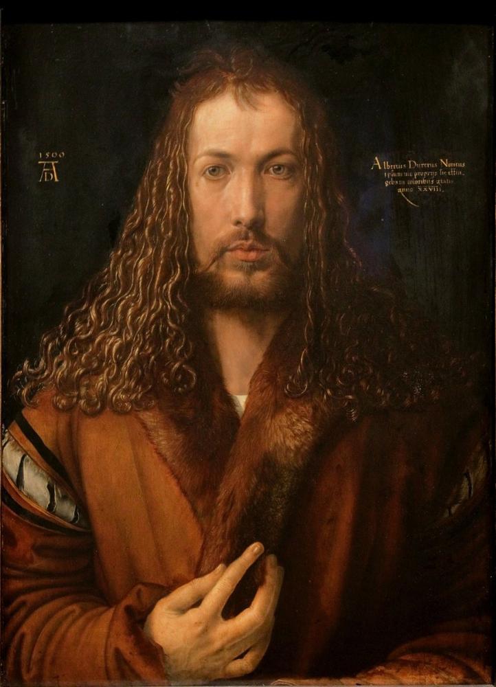 Albrecht Dürer Self Portrait At Age, Canvas, Albrecht Dürer, kanvas tablo, canvas print sales