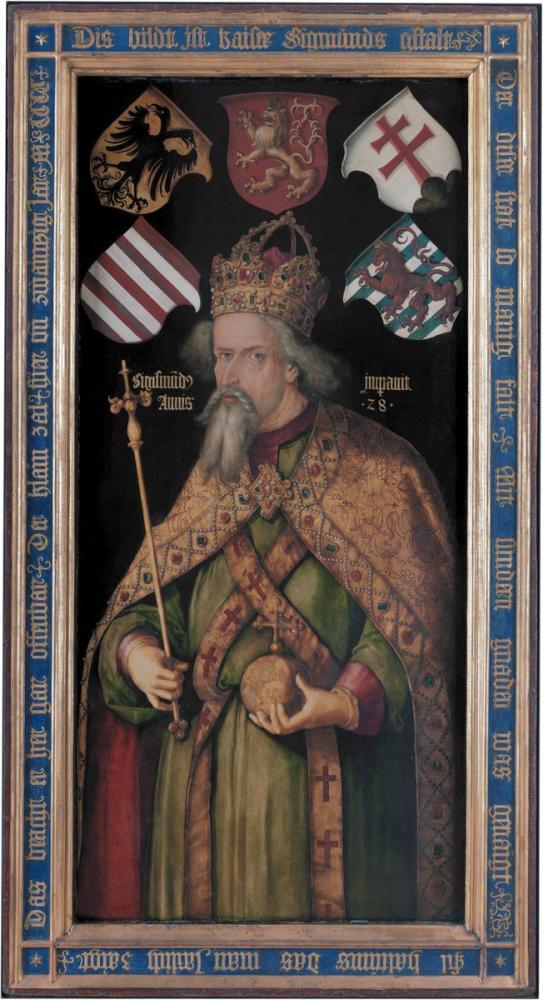 Albrecht Dürer Sigismund Holy Roman Emperor, Canvas, Albrecht Dürer, kanvas tablo, canvas print sales