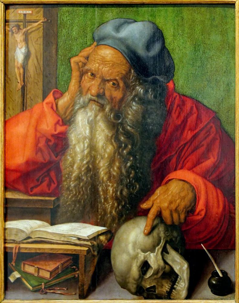 Albrecht Dürer St Jerome Çalışmasında, Kanvas Tablo, Albrecht Dürer, kanvas tablo, canvas print sales