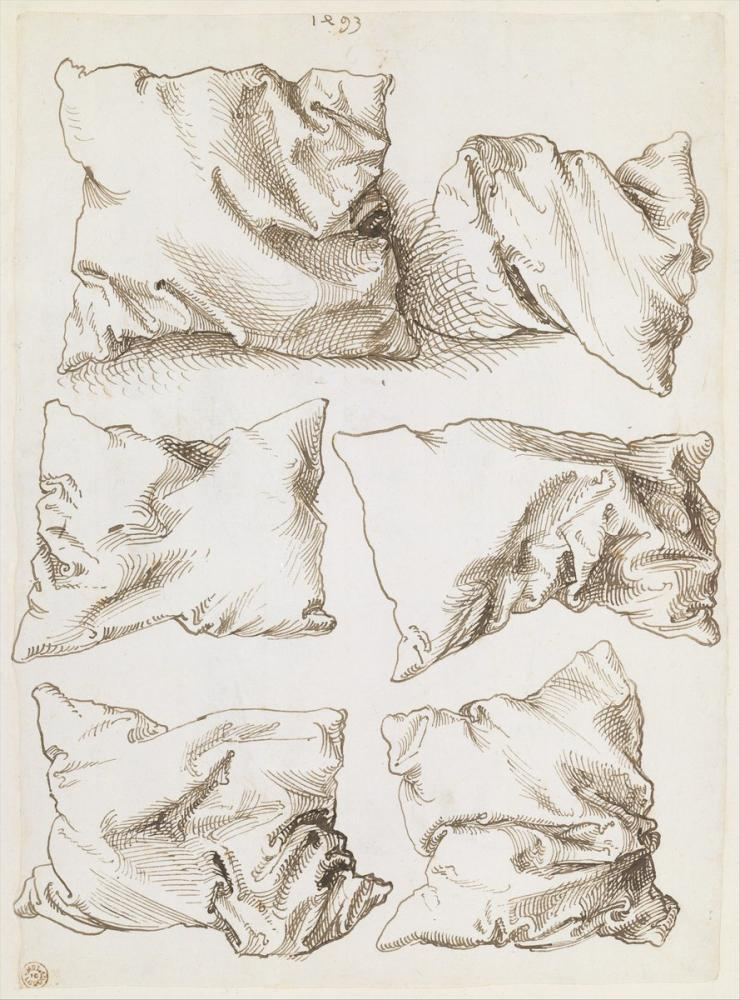 Albrecht Dürer Study Of A Hand And A Pillow Recto, Canvas, Albrecht Dürer, kanvas tablo, canvas print sales