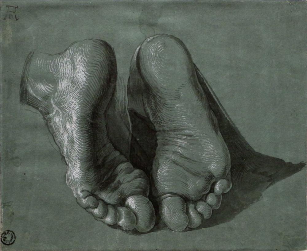 Albrecht Dürer Study Of Two Feet, Canvas, Albrecht Dürer, kanvas tablo, canvas print sales