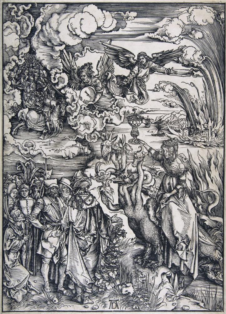 Albrecht Dürer Kıyamet Babil Fahişesi, Kanvas Tablo, Albrecht Dürer