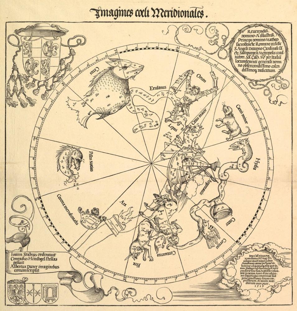 Albrecht Dürer Göksel Dünya Güney Yarım Küresi, Kanvas Tablo, Albrecht Dürer, kanvas tablo, canvas print sales