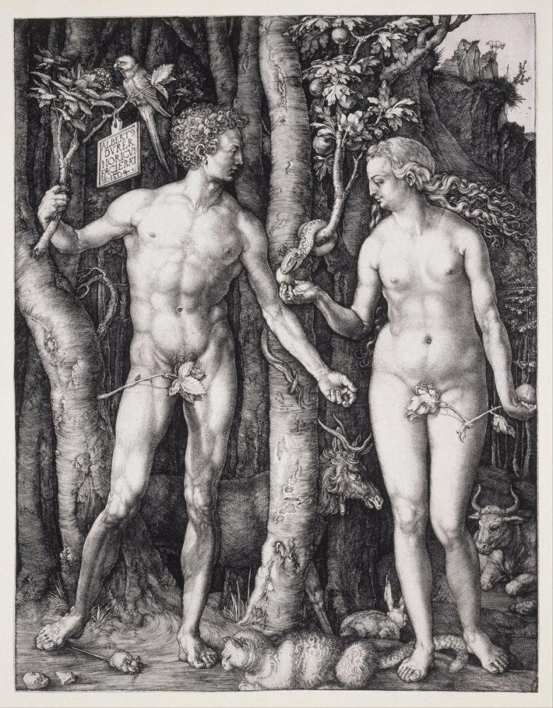 Albrecht Dürer İnsanoğlunun Düşüşü Ve Havva, Kanvas Tablo, Albrecht Dürer, kanvas tablo, canvas print sales