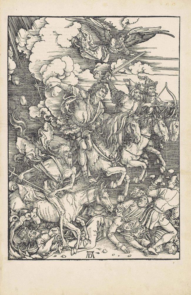 Albrecht Dürer Kıyametten Dört Atlı, Kanvas Tablo, Albrecht Dürer, kanvas tablo, canvas print sales