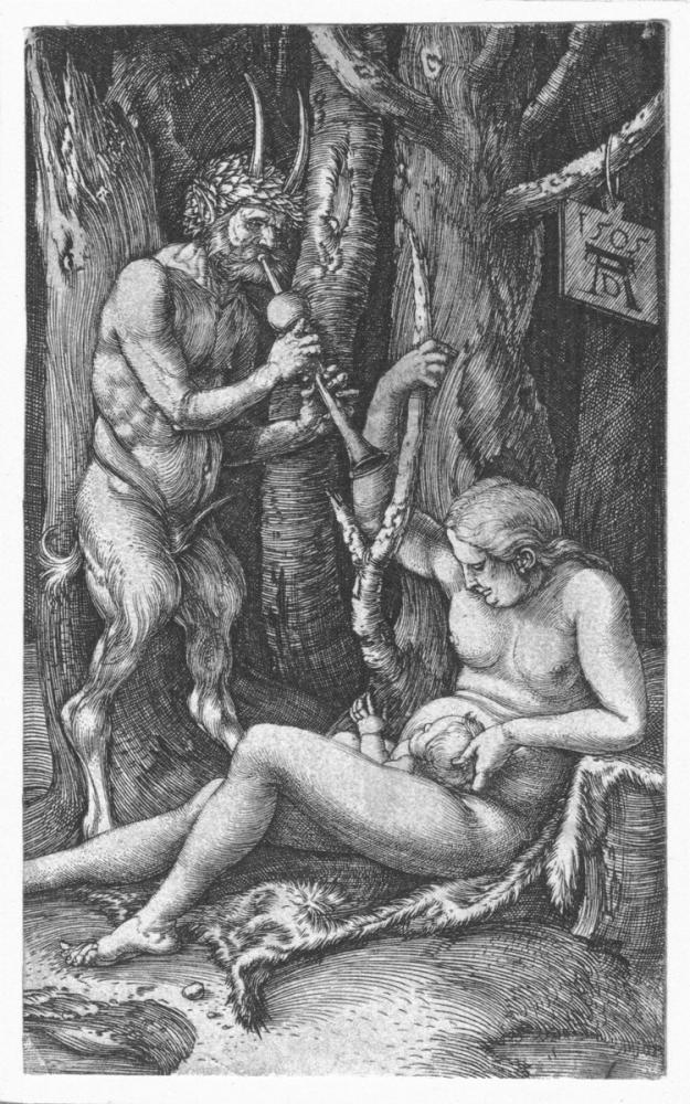 Albrecht Dürer Satyr Ailesi, Kanvas Tablo, Albrecht Dürer