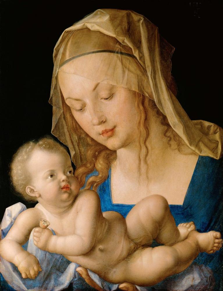 Albrecht Dürer Bakire Ve Armutlu Çocuk, Kanvas Tablo, Albrecht Dürer
