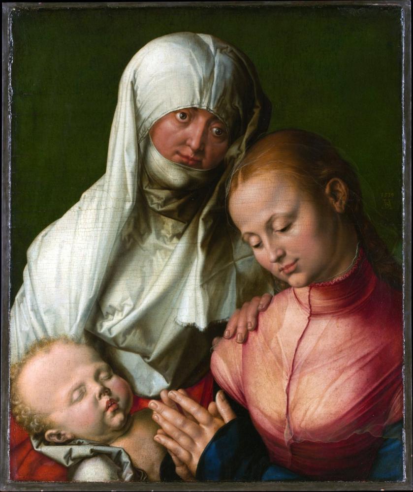 Albrecht Dürer Bakire Ve Aziz Anne Durer İle Çocuk, Kanvas Tablo, Albrecht Dürer