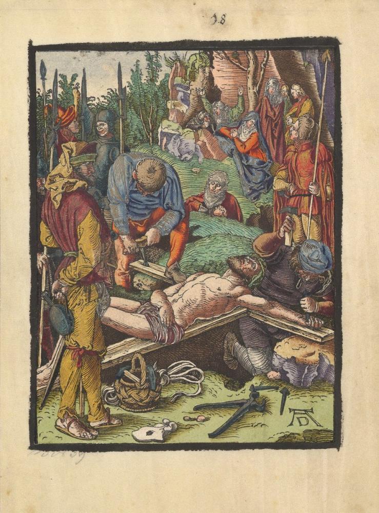 Albrecht Dürer Christ Nailed To The Cross, Canvas, Albrecht Dürer, kanvas tablo, canvas print sales