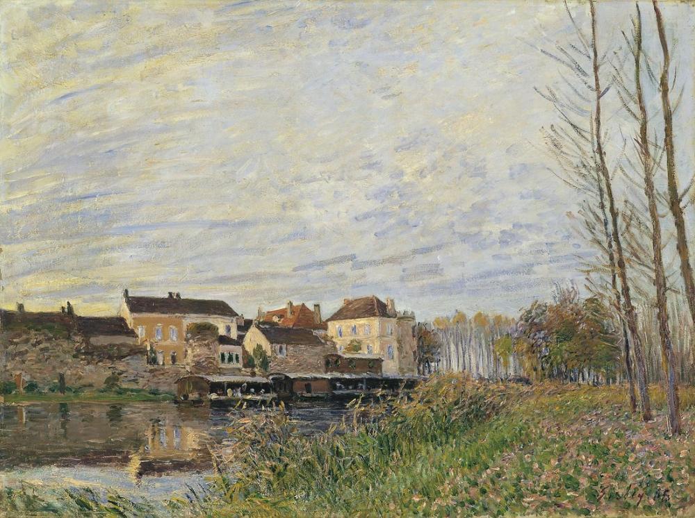 Alfred Sisley Öğleden Sonra Moret Finali Ekim, Kanvas Tablo, Alfred Sisley, kanvas tablo, canvas print sales