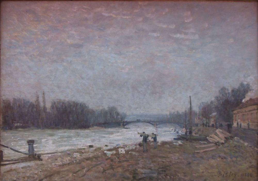 Alfred Sisley Suresnes Köprüsü Seine, Kanvas Tablo, Alfred Sisley