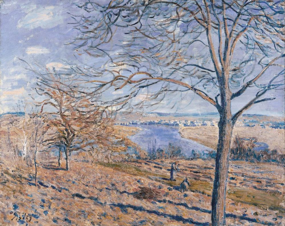 Alfred Sisley Alferd Banks of the Loing Autumn Effect, Canvas, Alfred Sisley, kanvas tablo, canvas print sales