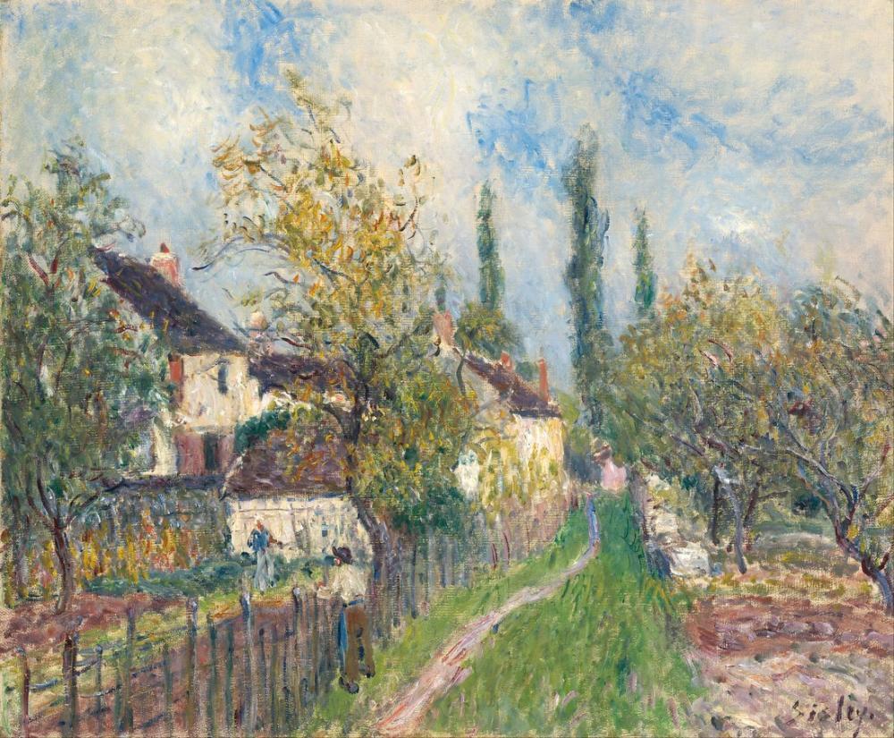 Alfred Sisley Bir Yol Les Sablons, Kanvas Tablo, Alfred Sisley, kanvas tablo, canvas print sales