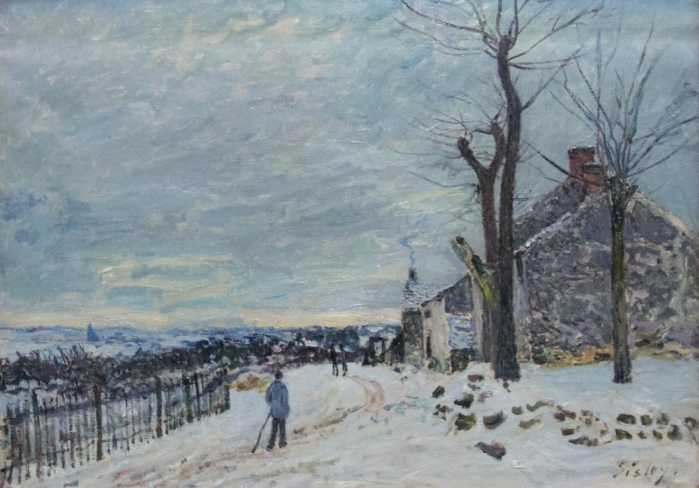 Alfred Sisley Veneux Nadon Kar Yağışı, Kanvas Tablo, Alfred Sisley