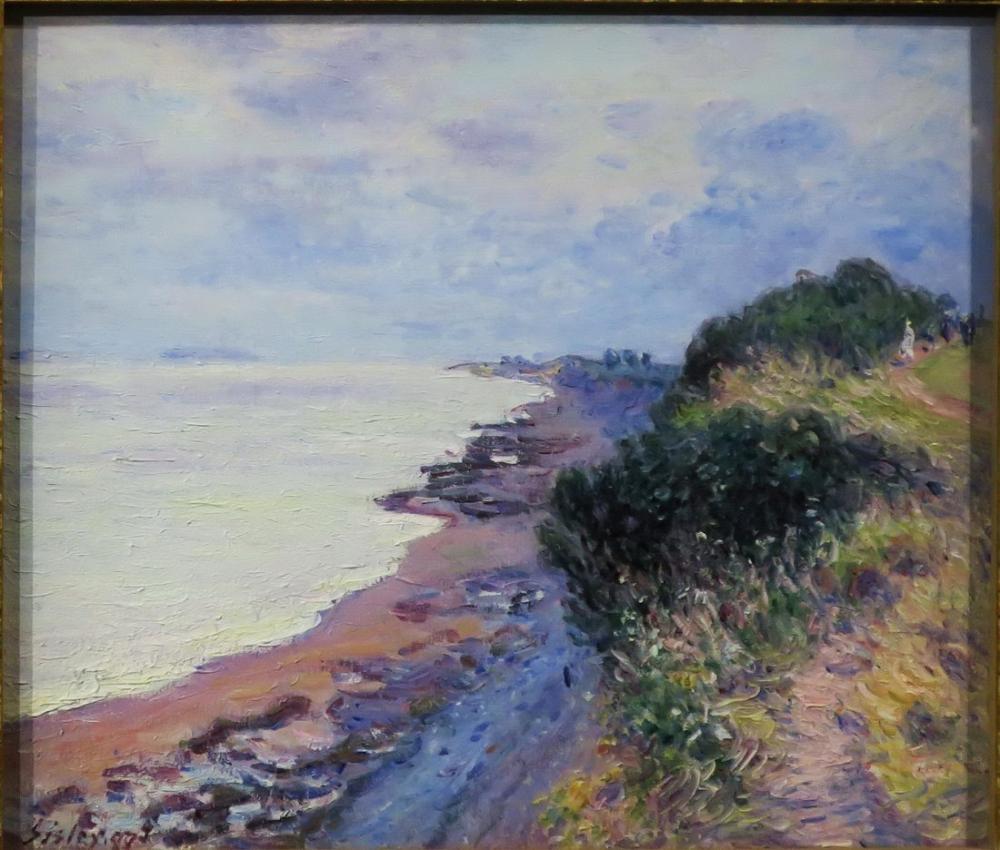 Alfred Sisley Gece Vakti Orageux Cliff, Kanvas Tablo, Alfred Sisley