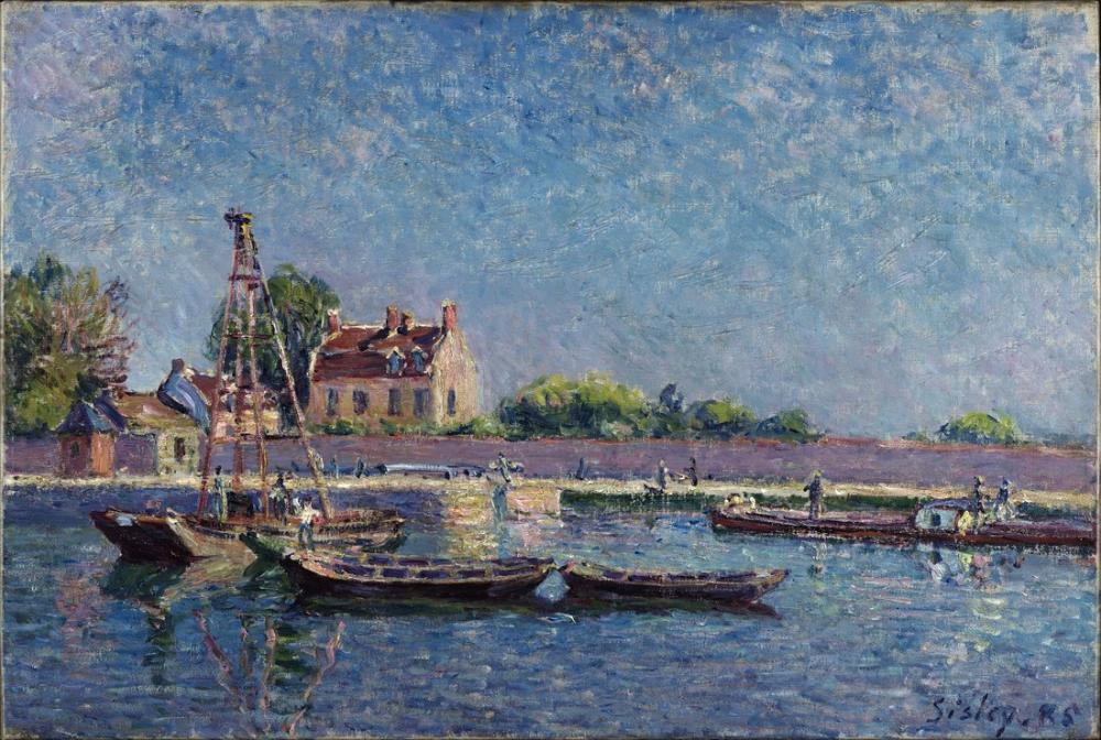 Alfred Sisley Saint Mammes Kilidi, Kanvas Tablo, Alfred Sisley