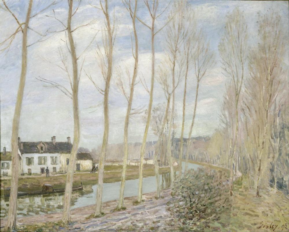 Alfred Sisley Loing Kanalı, Kanvas Tablo, Alfred Sisley