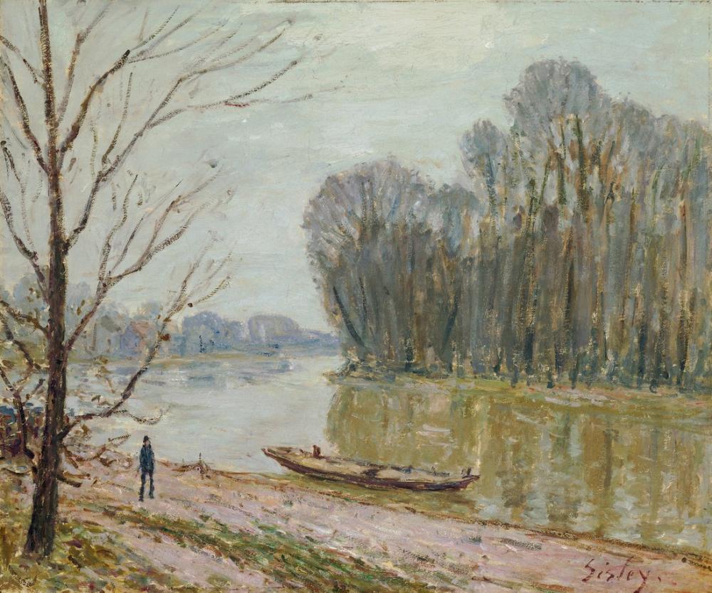 Alfred Sisley Loire, Kanvas Tablo, Alfred Sisley