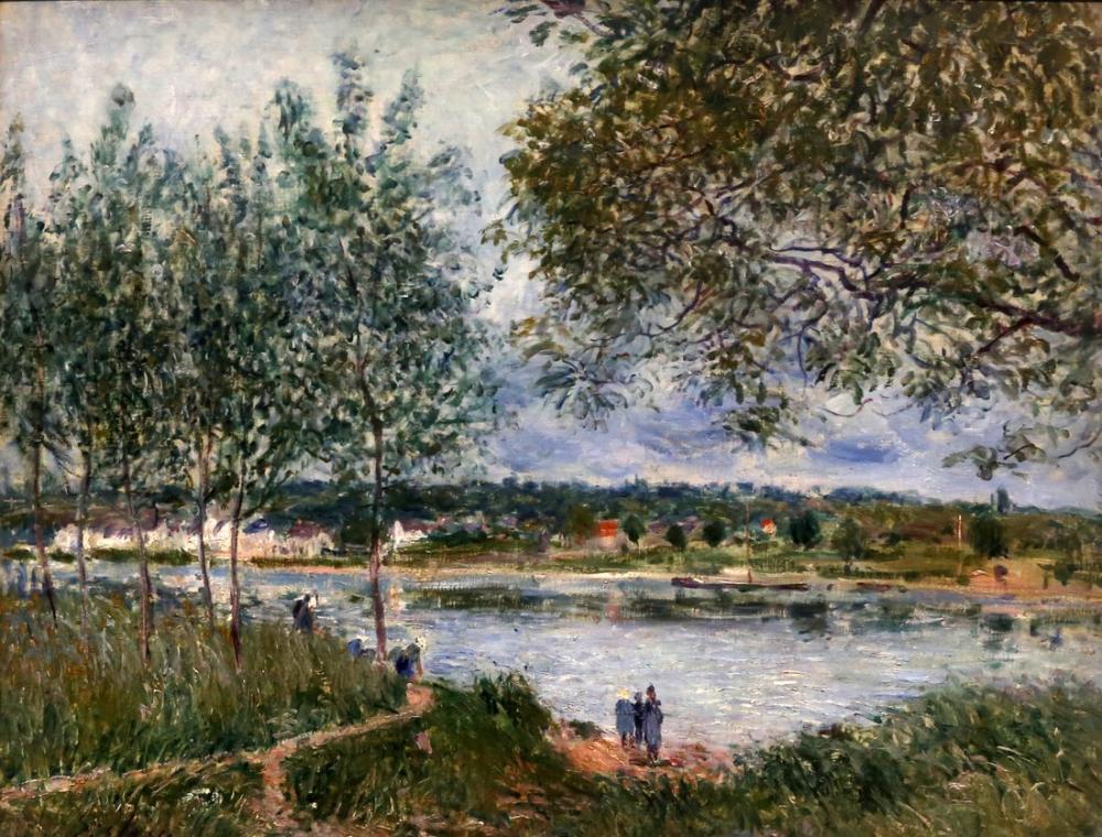 Alfred Sisley Eski Tekne Yolu, Kanvas Tablo, Alfred Sisley, kanvas tablo, canvas print sales