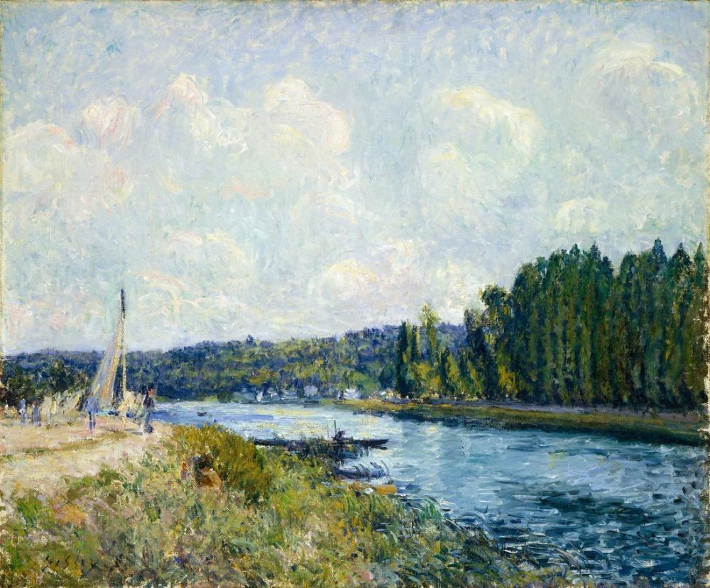 Alfred Sisley Banks Of The Oise, Canvas, Alfred Sisley