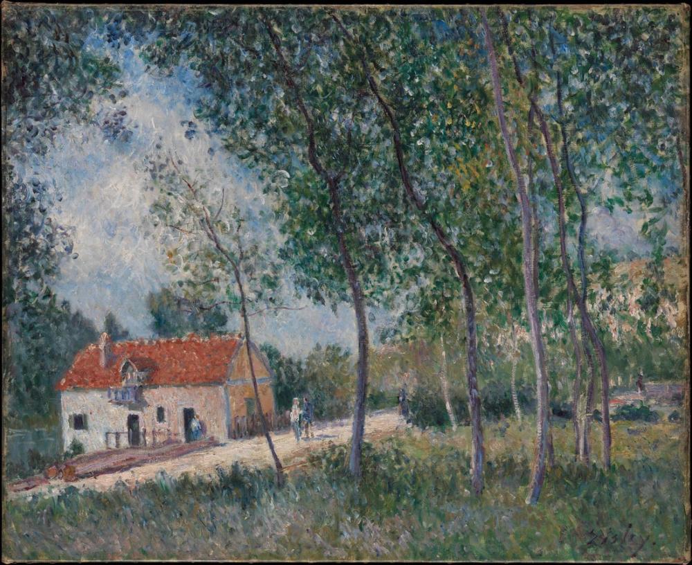 Alfred Sisley Moret İle Saint Mammes Arası Giden Yol, Kanvas Tablo, Alfred Sisley
