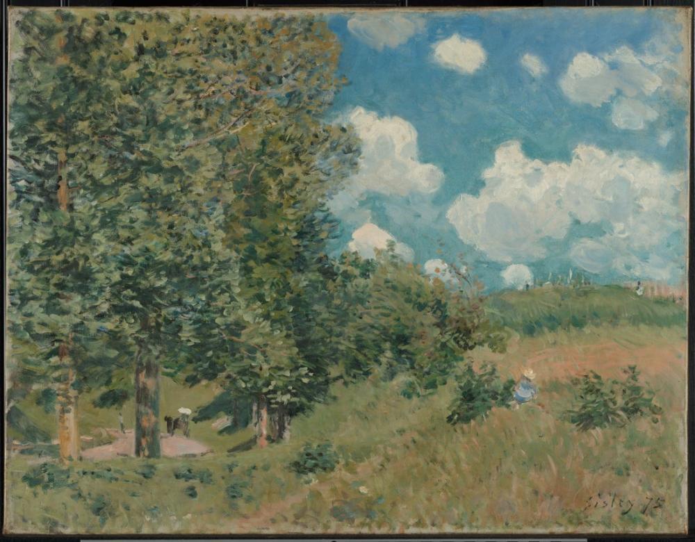 Alfred Sisley Versay İle Saint Germain Arası Giden Yol, Kanvas Tablo, Alfred Sisley