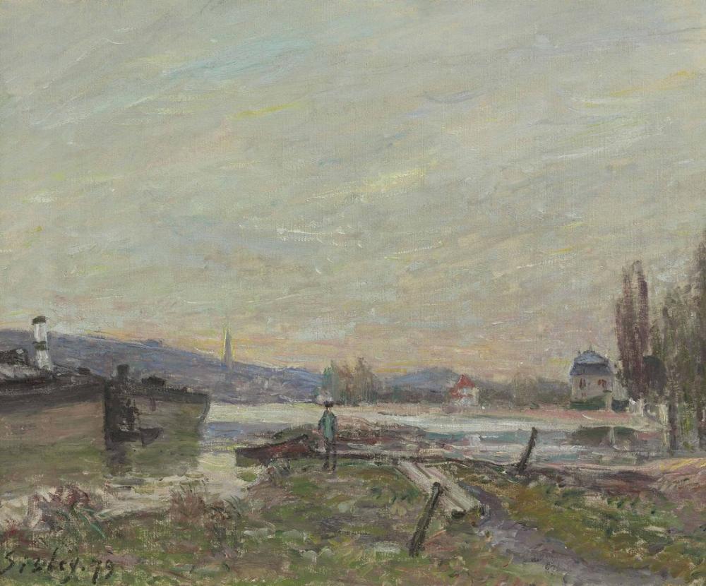 Alfred Sisley Seine Bankları, Kanvas Tablo, Alfred Sisley