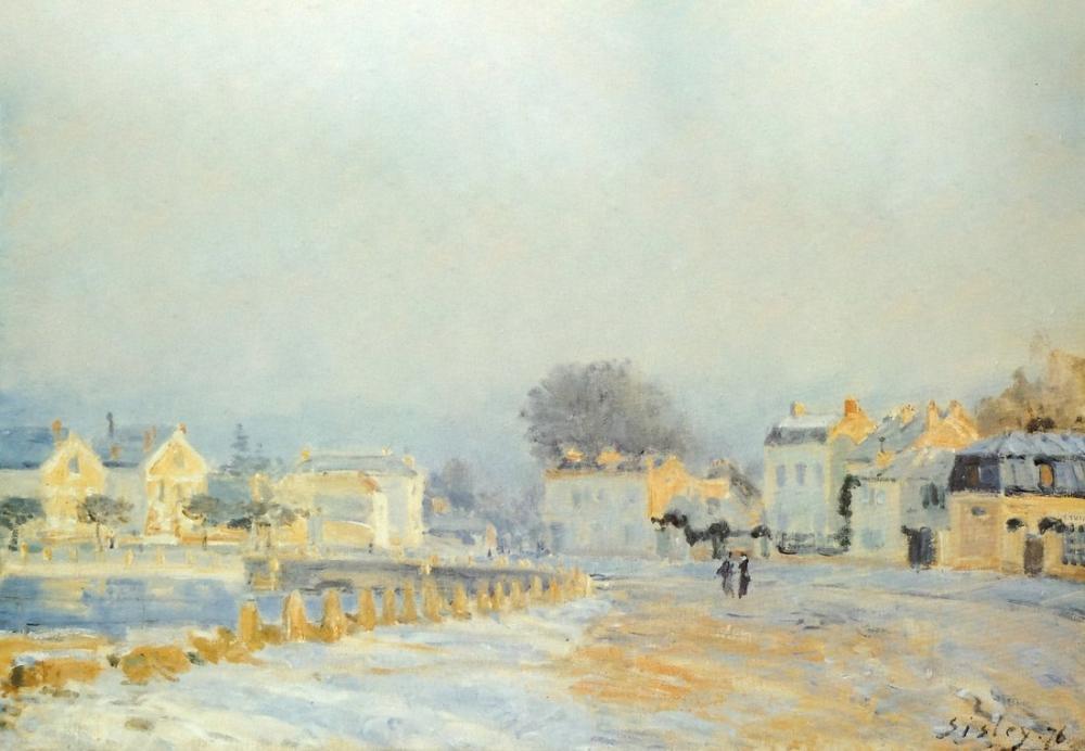 Alfred Sisley Yalak Marly Jöle Beyaz, Kanvas Tablo, Alfred Sisley, kanvas tablo, canvas print sales